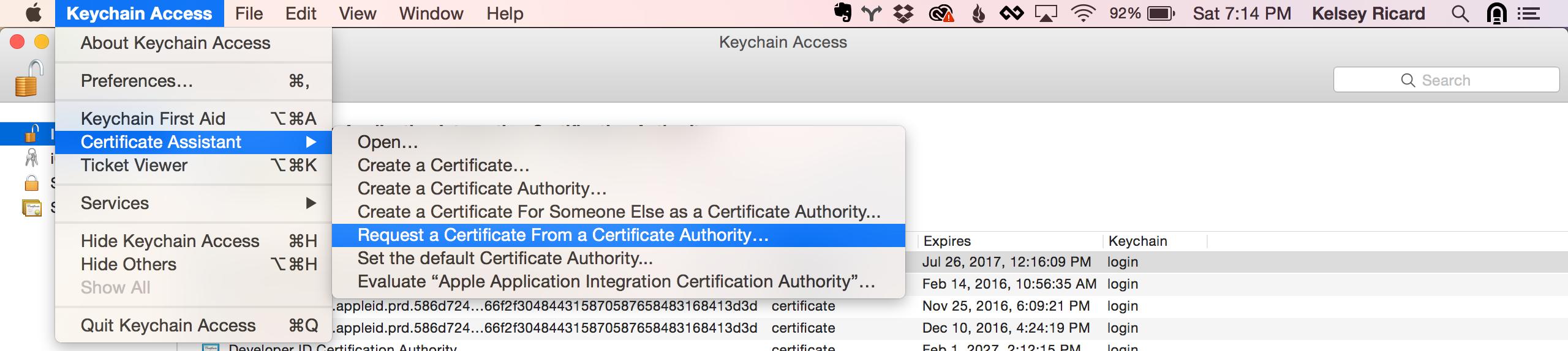 Apple certificates taplytics docs this is used to authenticate the creation of the certificate on your mac launch the keychain access application in keychain access click the 1betcityfo Images